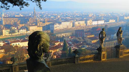 Jardines Bardini, con la ciudad de Florencia como telón de fondo