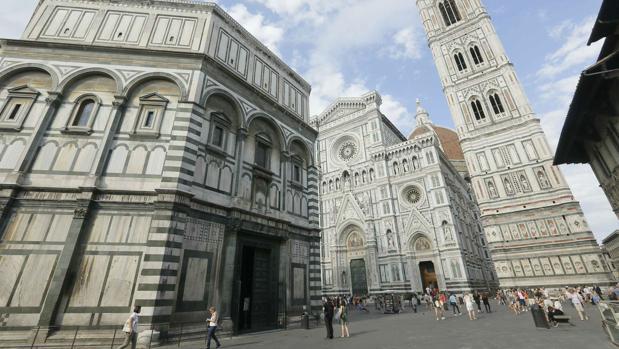 Piazza del Duomo, en pleno centro histórico de Florencia