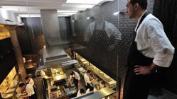 Vista de la cocina de Lasarte
