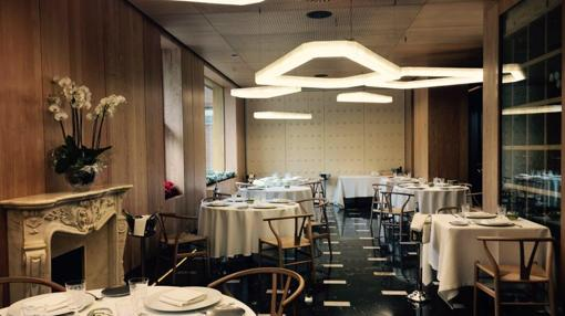 Sala del restaurante A 'Barra, en Madrid