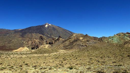 Llano de Ucanca, en la zona del Teide
