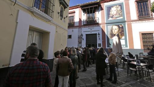 Entrada a la exposición sobre Murillo y Velázquez, en Sevilla