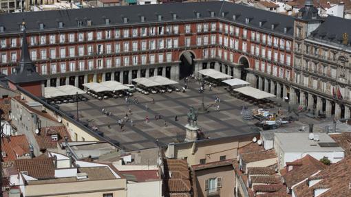 Vista aérea de la Plaza Mayor, Madrid