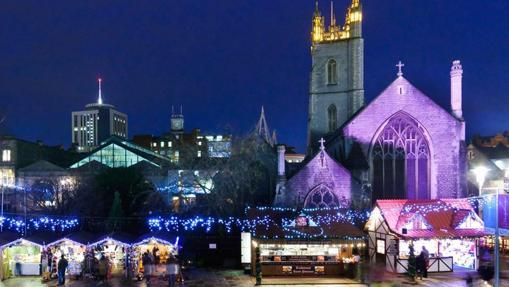 Cardiff, en Gales, durante la Navidad