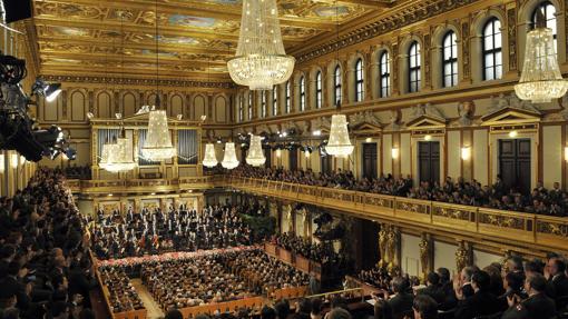 Ensayo de la filarmónica de Viena para el Concierto de Año Nuevo 2014 en el Musikverein en Viena (Austria)
