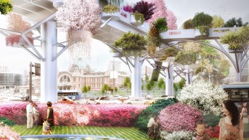 Recreación de lo que será el Seoul Skygarten