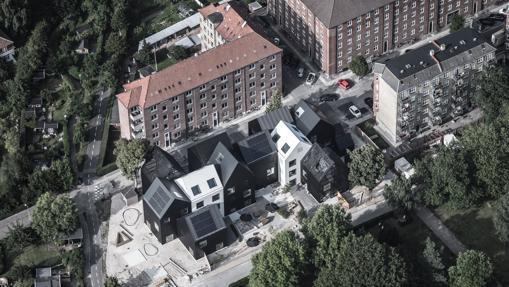 Un nuevo experimento de guardería, construida como una pequeña aldea, en Frederiksberg, Dinamarca