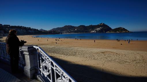 Playa de la Concha, en invierno