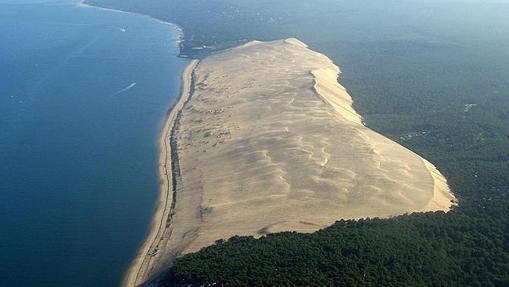 Vista aérea de la Gran Duna de Pilat