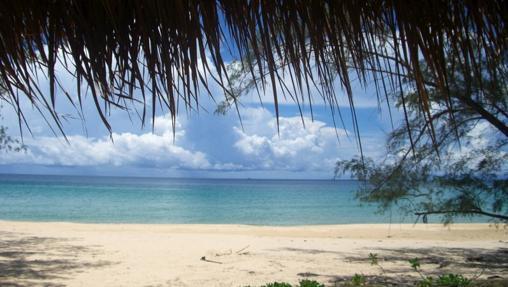 Lazy Beach, vista desde uno de los bungalós de la playa