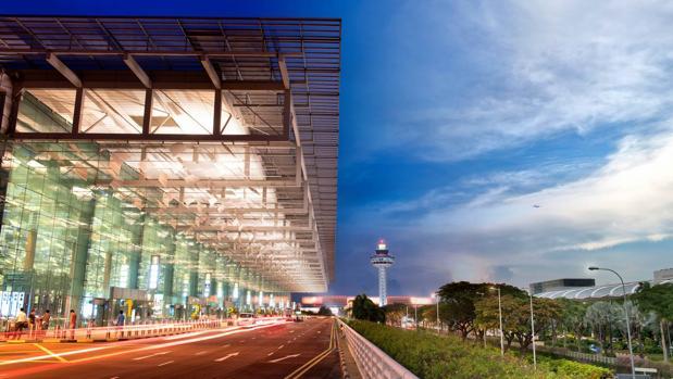Entrada al aeropuerto de Changi