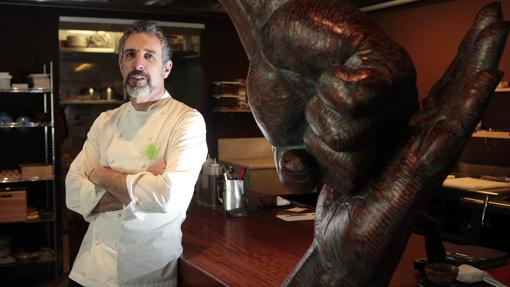 Pepe Solla, en su restaurante