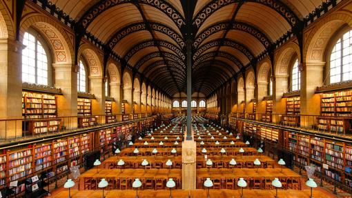 Bibliothèque Sainte-Geneviève, en París