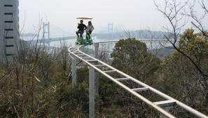 La montaña rusa a pedales de Japón