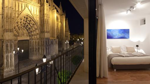 Suite con vistas a la catedral, en Sevilla