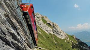Así es el tren cremallera más empinado del mundo: ¡una pendiente del 48%!