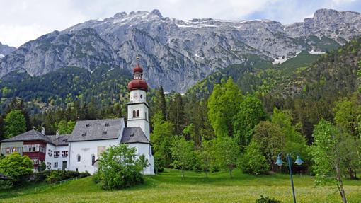 Una iglesia en el muncipio de Gnadenwald
