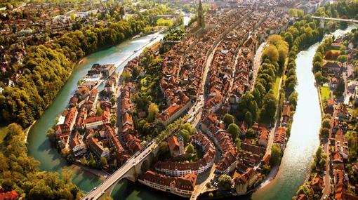 Berna, en un meandro del río Aare