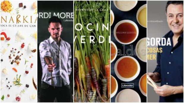 Portada de algunos de los libros gastronómicos recientes
