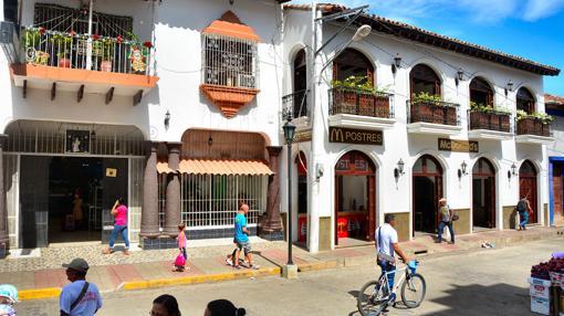 Una calle de León, en Nicaragua
