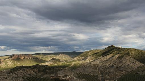 Vistas de las roscas de Fitero desde el Castillo Tudején