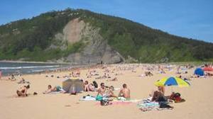 Playa de Rodiles, en Asturias
