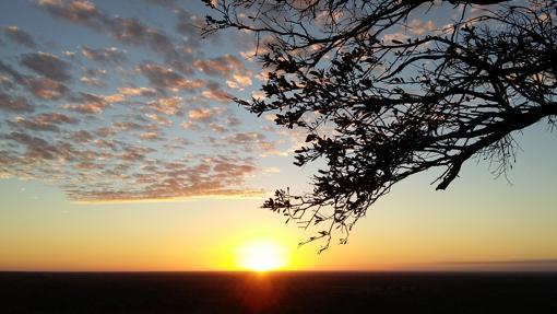 Vistas del amanecer desde Elsa's Kopje