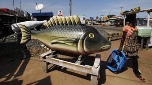 Ataúd en forma de pez