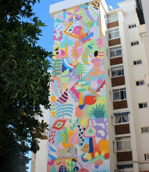 Primer premio del concurso de murales, de Zosen y Mina Hamada