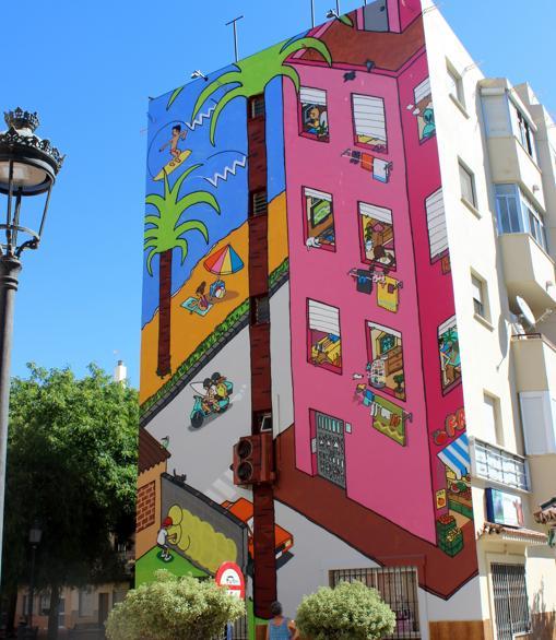 Segundo premio del concurso de murales en Estepona