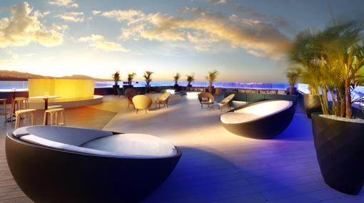 Azotea de la planta 16 del Hard Rock Hotel Tenerife