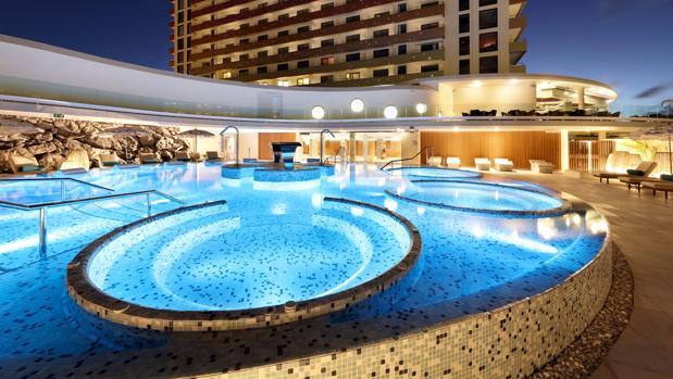 Zona de spa del Hard Rock Hotel Tenerife