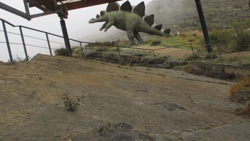 Huellas de dinosaurio en Munilla, La Rioja