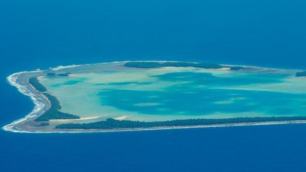 Vista aérea de Tuvalu