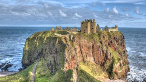 Castillo Dunnottar, en Escocia