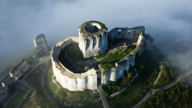 Castillo Galliard, en Normandía (Francia)