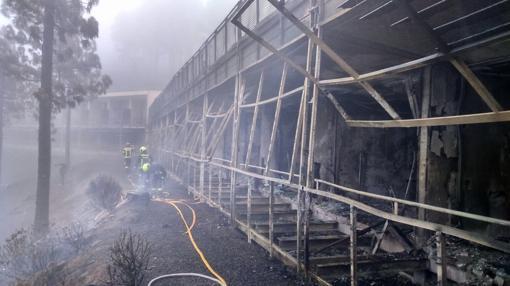 Habitaciones afectadas por el fuego