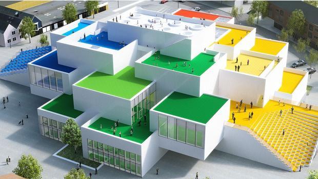 As es la gigantesca casa lego de dinamarca for Casa amarilla musica