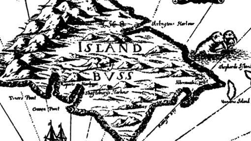 Mapa de Isla Buss, de la obra de John Seller English Pilot, 1673