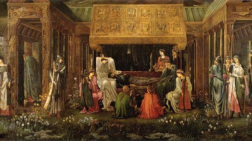 «El último sueño de Arturo en Avalón». de Edward Burne-Jones.