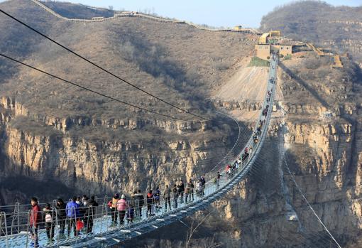 Vista de la nueva atración en Pingshan, provincia de Hebei