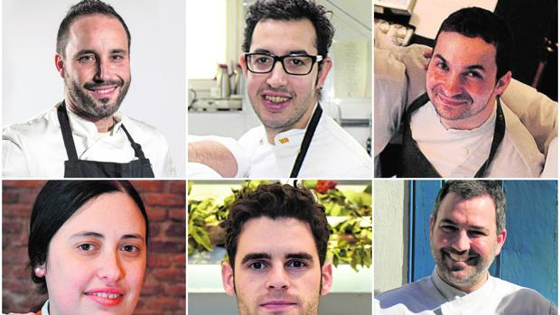 Fran Segura, Toni Clusella, Víctor de Castro, Ester Roelas, Lluís Pérez y Aelxis García