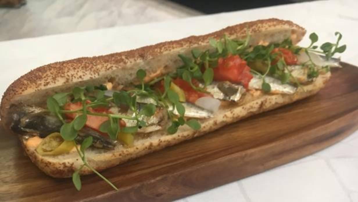 De sardinas: así es el mejor bocadillo de autor del año