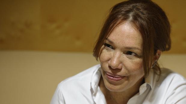 Leonor Espinosa en un momento de la entrevista con ABC