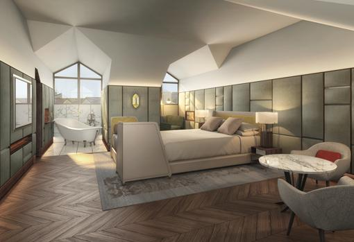 Design of the Gran Hotel English suite