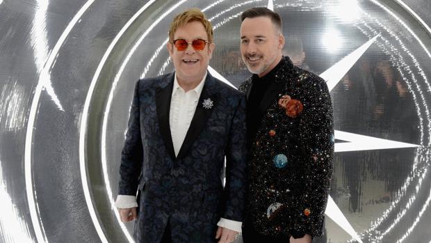 Elton John, durante la fiesta de 2017 en Hollywood