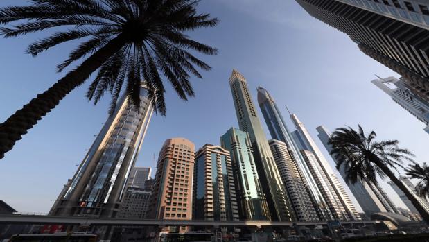 El hotel Gevora, en el centro de la imagen, tiene 75 plantas y 356 metros de altura