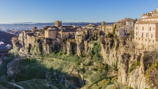 Vista panorámica de Cuenca y de sus Casas Colgadas