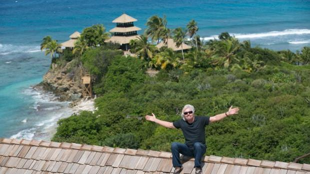 Vista de Necker Island, la isla privada de Richard Branson (en la imagen)