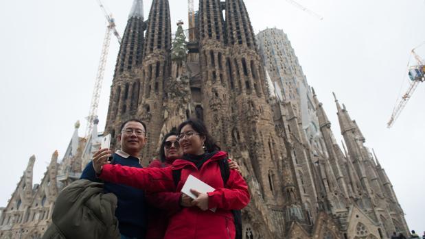 Un selfie con la Sagrada Familia como telón de fondo